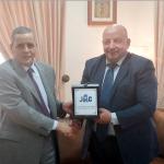 زيارة المدير التنفيذي للشركة الاردنية لأنظمة الطيران  للسفارة الجزائرية